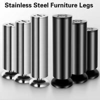 Stainless Steel Furniture Leg Cabinet Table Desk Sofa Bed Feet Adjustable 6-20CM