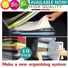 10Pcs/Set Convenient Clothes T-Shirt Folder Folding Rack Holder Organizer GHT