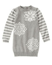 Gymboree Cozy Ski Lodge Sparkle Snowflake Silver Sweater Dress Girls 5T NEW NWT