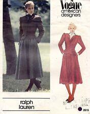 604ms Vogue Am.designer Ralph Lauren Chaqueta y Falda Modelo 2615 Talla 8 sin