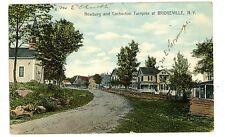 Bridgeville NY -NEWBURGH & COCHECTON TURNPIKE- Postcard Sullivan County