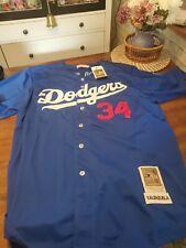 La Dodgers Valenzuela Baseball Jersey Sz 60 Mitchell & Ness (25th Ann.) Blue Nwt