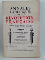 Revista Anales Históricos de La Revolution Francaise Oct - Dic 1962 N º 170