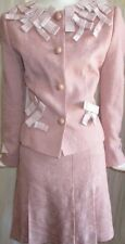 MOSCHINO Cheap & Chic Floral Brocade Ribbon Bows Top Suit Jacket Dress Skirt 6