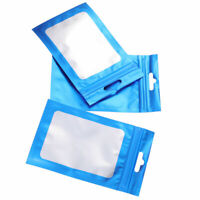 100 Strong Thick Grip Resealable Zip Lock Bag Self Seal Clear Plastic Poly Bag