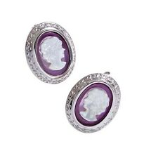 New Makuti Sterling Silver Cameo Earrings R6006 0066
