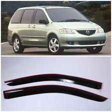 Wide Window Side Sun Rain Visors Guard Vent Deflectors For Mazda MPV 1999-2006