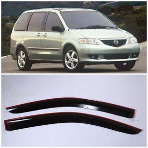 ME22999 Window Visors Sun Guard Vent Wide Deflectors For Mazda MPV 1999-2006