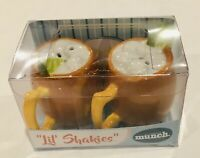 Lil' Shakies Porcelain Salt & Pepper Shakers - New In Box! Great Stocking/Gift!