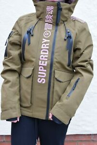 BNWT Superdry Ultimate Rescue Jacket Women's Size XS, Dusty Olive, Ski, RRP £279