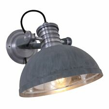 Wandleuchte Steinhauer Brooklyn 7717GR Wohnraumlampe Grau Vintage E14 Flur