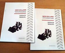 New Holland L555 Skidsteer AND Kubota Engine Service Repair Manual Book NH
