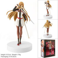 New In box 18CM Sword Art Online Yuuki Asuna Stand Figure SAO Collection Toy