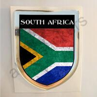 Pegatina Sudafrica 3D Bandera Grunge Escudo Adhesivo Resina Relieve Pegatinas