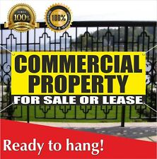 Commercial Property For Sale Or Lease Banner Vinyl / Mesh Banner Sign Many Sizes