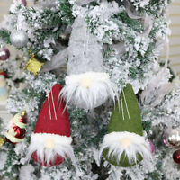 1PC Christmas Ornaments Santa Claus Snowman Tree Toy Doll Hang Decoration Gift F