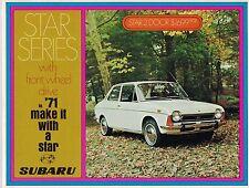 1971 SUBARU Star FOLLETO: 2/4 DOOR SEDAN , Station Wagon