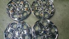 "2010 11 12 Fusion 17"" Chrome New Hubcap Hub Cap Wheel Rim Covers Set of 4 7052"