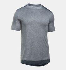 NEW Under Armour M MEDIUM UA Sportstyle Layered Tee T Shirt Gray 1303703 $49