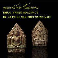 Thai Amulet Charming Herbal Khun Phaen Gold Face Love,Business By Aj Pu MoNak