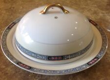 Vtg Noritake Domed Cheese Plate Serving Butter Chatsworth Pattern