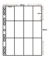 More details for 50 x polypropylene a4 cigarette card sleeves 12 pocket - multi master album