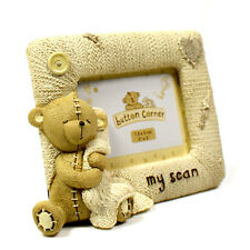 Photo Frame My Scan Design Resin Knitted Effect Baby Shower Gift CG709
