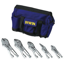 Irwin 2077704 Locking Pliers Set with Nylon Tool Bag, 5-Piece