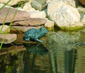 Wasserspeier Frosch Teichfigur Teich Garten Figur Springbrunnen Dekoration Deko