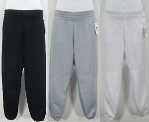Baseball Pants Pull-Up Elastic Drawstring Waist Ankle Pocket Youth Boys Russell