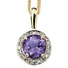 Diamond Yellow Gold Amethyst Fine Necklaces & Pendants
