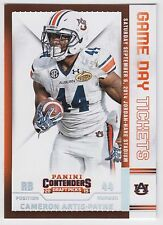 CAMERON ARTIS-PAYNE 2015 Contenders Draft Picks Game Day Tickets #8 Tigers
