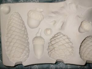 VINTAGE 1958 Pinecones and Acorns MOLD DUNCAN # 907 CERAMIC MOLDS