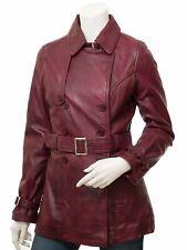 Women Leather Trench Coat - Sheepskin Leather Jacket -