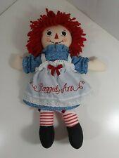 "Raggedy Ann Classic Doll 12"" cloth"