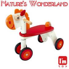 Horse Rider Child Safe Paints Ride-on Style Push Trike I'm Toy Eco Rubber Wood