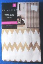 Attention Metallic Chevron Shower Curtain. 100% Cotton
