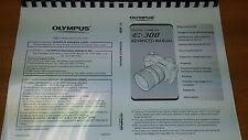 Olympus E-300 Digital Cámara manual de instrucciones impreso Guía de usuario 211 Páginas