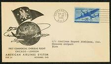 1945 FAM 24-3Fa. AMER. AIR 1ST COMMERCIAL LAND PLANE FLIGHT OVERSEAS (ESP#1690)