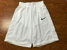 MENS NEW WITH TAGS NIKE WHITE ATHLETIC BASKETBALL SHORTS SIZE SMALL