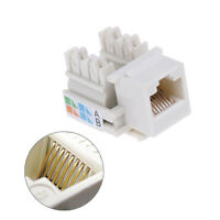 10Pcs keystone jack CAT5e network ethernet A style punch down 8P8C RJ45