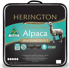 Alpaca Wool Blend KING BED Duvet Doona Quilt by Herington. Australian Made