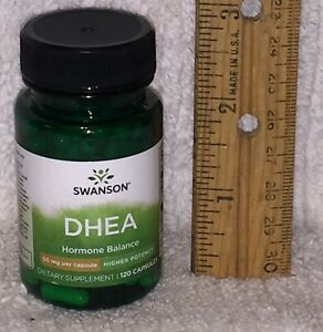 D H E A, from Swanson.  120 capsules, 50 mg each