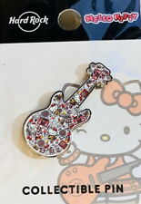 Hard Rock Cafe HONOLULU 2019 HELLO KITTY Collage Guitar PIN on Card LE 250 New!