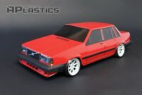 RC Body Car Drift Touring 1:10 Volvo 740 744 760 Sedan style APlastics New Shell