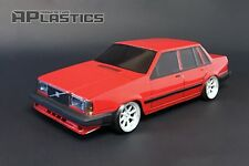 RC Body Car Drift Touring 1:10 Volvo 740 744 760 Sedan style APlastics New Shell
