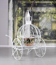 Pflanzgestell Shabby Chic Kutsche Gartendeko Krone Blumenkugel Cinderella 140cm