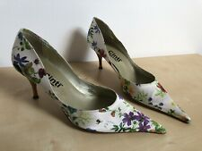 Cinti White Floral  Pointed Heels Stilettos Shoes Luxury Uk6 Eur39 Worn Once