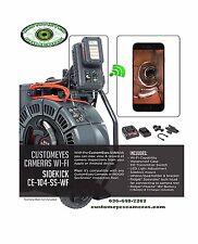 CustomEyes Cameras Ridgid Style Wi-Fi Sidekick CE-104-SS-WF