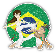 Brazilian Martial Art Capoeira Car Bumper Sticker Decal 5'' x 5''